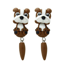 Load image into Gallery viewer, English Bulldog Love Handmade Polymer Clay EarringsDog Themed Jewellery