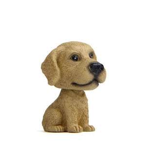 English Bulldog Love Miniature Car BobbleheadCarLabrador - Yellow