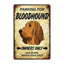Load image into Gallery viewer, English Bulldog Love Reserved Parking Sign BoardCarBloodhoundOne Size