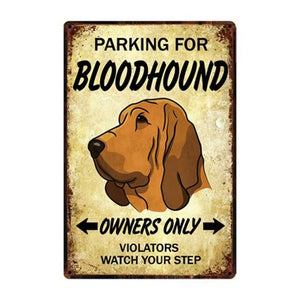 English Bulldog Love Reserved Parking Sign BoardCarBloodhoundOne Size