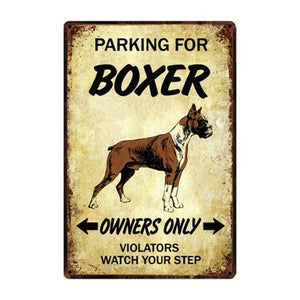 English Bulldog Love Reserved Parking Sign BoardCarBoxerOne Size