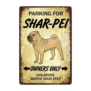 English Bulldog Love Reserved Parking Sign BoardCarShar-PeiOne Size