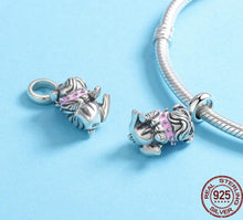 Load image into Gallery viewer, English Bulldog Love Silver PendantPendant