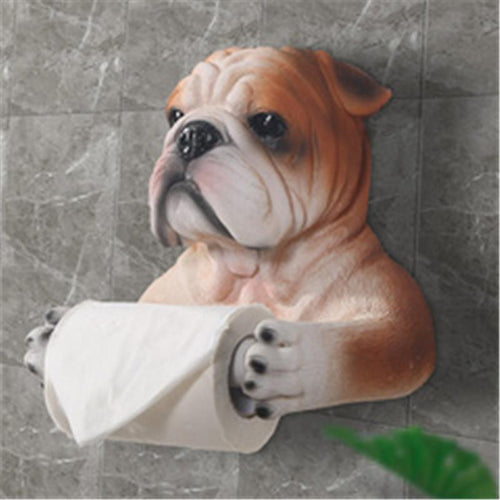 English Bulldog Love Toilet Roll HolderHome Decor