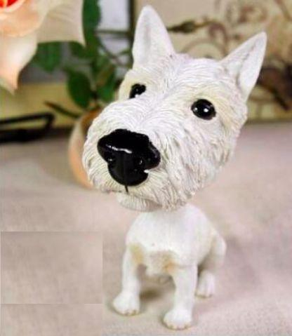 Extra Large West Highland Terrier BobbleheadCar AccessoriesWest Highland Terrier