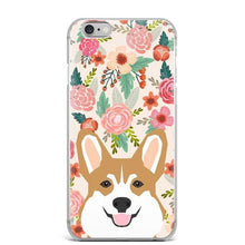 Load image into Gallery viewer, Fawn / Red Corgi in Bloom iPhone CaseCell Phone AccessoriesCorgi - Fawn / RedFor 5 5S SE