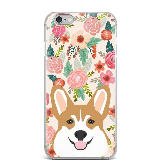 Fawn / Red Corgi in Bloom iPhone CaseCell Phone AccessoriesCorgi - Fawn / RedFor 5 5S SE