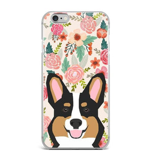 Fawn / Red Corgi in Bloom iPhone CaseCell Phone AccessoriesCorgi - Sable / Black / TricolorFor 5 5S SE