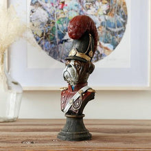 Load image into Gallery viewer, Field Marshal Bulldog Home DecorationHome DecorCurved Red Shako