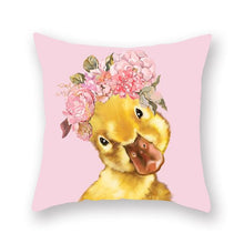 Load image into Gallery viewer, Floral Tiara Pug and Friends Cushion CoversCushion CoverOne SizeDuck