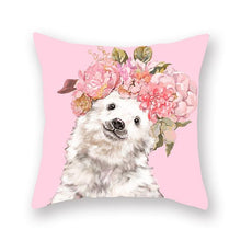 Load image into Gallery viewer, Floral Tiara Pug and Friends Cushion CoversCushion CoverOne SizeSheep