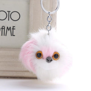 Fluffy Shih Tzu Love KeychainsAccessoriesWhite and Pink