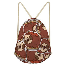 Load image into Gallery viewer, Foodie Pugs Drawstring BagAccessoriesPasta Pug