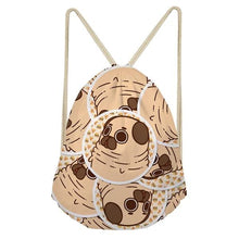 Load image into Gallery viewer, Foodie Pugs Drawstring BagAccessoriesPugs in Bubble with Burgers & Pizzas