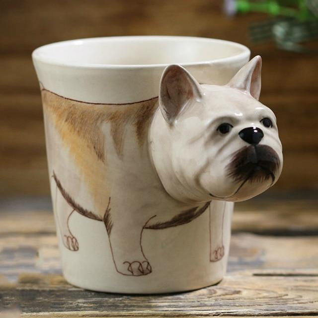 French Bulldog Love 3D Ceramic CupMugDefault Title