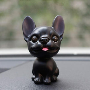 French Bulldog Love Car Bobble HeadCarBlack