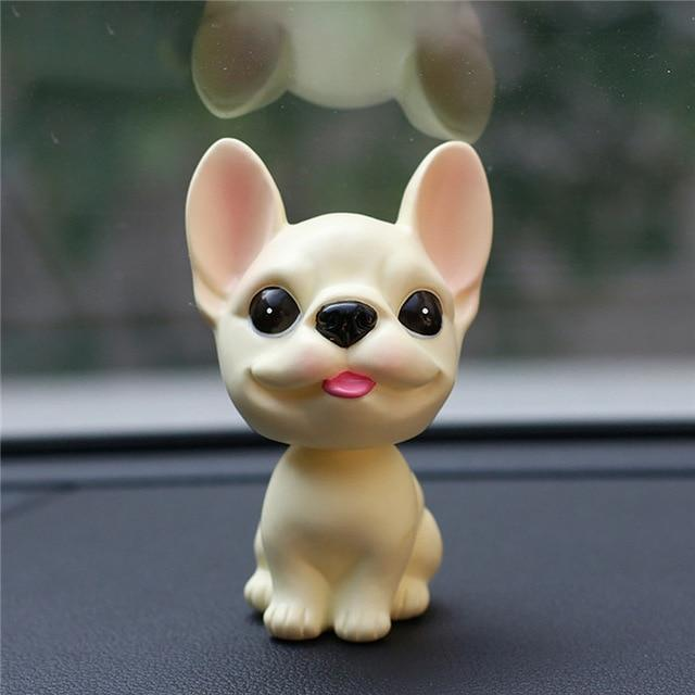 French Bulldog Love Car Bobble HeadCarTan / Cream