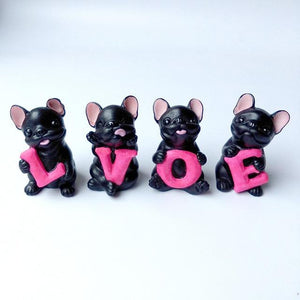 French Bulldog Love Desktop OrnamentHome DecorBlack