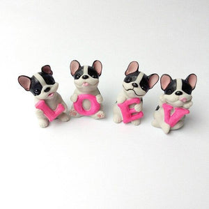 French Bulldog Love Desktop OrnamentHome DecorBrindle & White