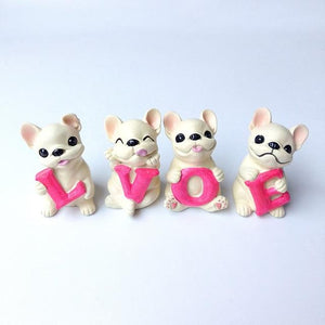 French Bulldog Love Desktop OrnamentHome DecorWhite