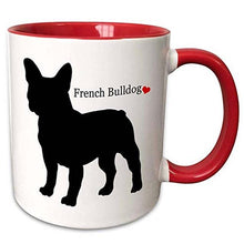 Load image into Gallery viewer, French Bulldog Love Dual Tone Coffee MugMugDefault Title