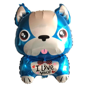 French Bulldog Love Helium Party Balloons - 4 PcsHome Decor