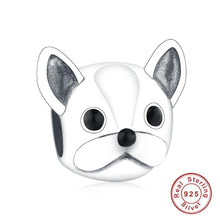 Load image into Gallery viewer, French Bulldog Love Silver Charm BeadDog Themed Jewellery