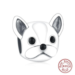 French Bulldog Love Silver Charm BeadDog Themed Jewellery