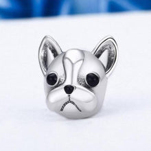 Load image into Gallery viewer, French Bulldog Love Silver Charm BeadDog Themed JewelleryFrench Bulldog - Option 1