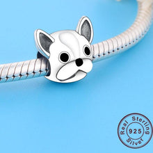 Load image into Gallery viewer, French Bulldog Love Silver Charm BeadDog Themed JewelleryFrench Bulldog - Option 2