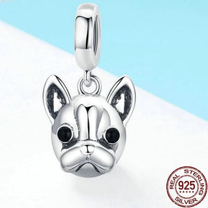 French Bulldog Love Silver PendantPendant