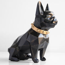 Load image into Gallery viewer, Abstract French Bulldog Resin Piggy BankHome DecorBlack