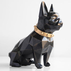 Abstract French Bulldog Resin Piggy BankHome DecorBlack