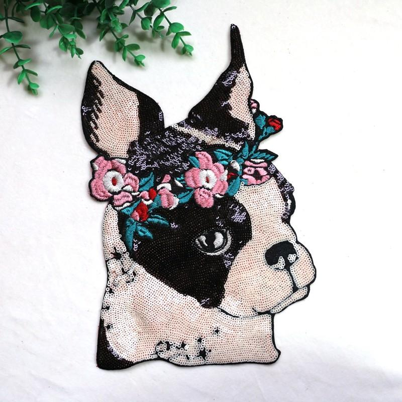 Garland Boston Terrier Sequinned Sew On PatchPatch11