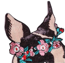 Load image into Gallery viewer, Garland Boston Terrier Sequinned Sew On PatchPatch