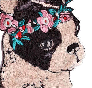 Garland Boston Terrier Sequinned Sew On PatchPatch