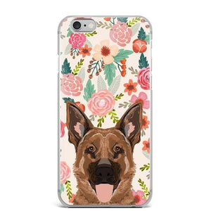 German Shepherd in Bloom iPhone CaseCell Phone AccessoriesGerman ShepherdFor 5 5S SE