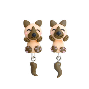 German Shepherd Love Handmade Polymer Clay EarringsDog Themed Jewellery