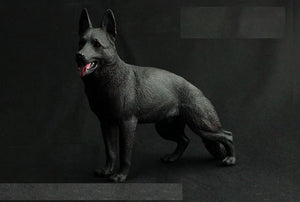 German Shepherd Love Lifelike StatueHome DecorBlack