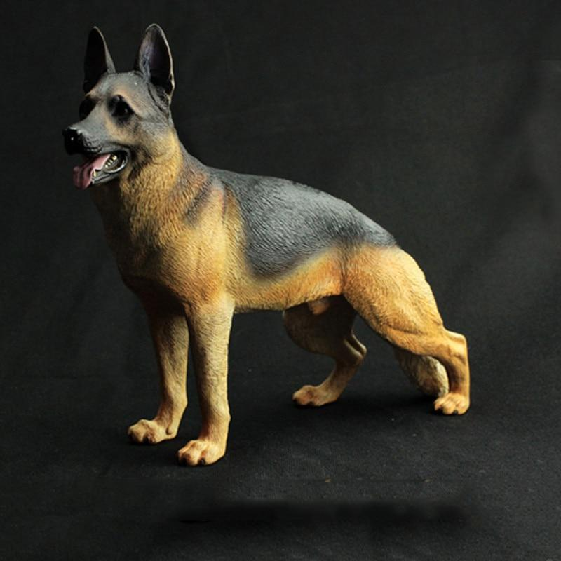 German Shepherd Love Lifelike StatueHome DecorBlack and Tan