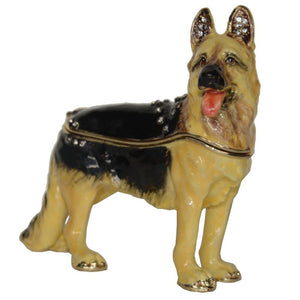 German Shepherd Love Small Jewellery Box FigurineHome Decor