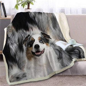 German Shepherd Love Soft Warm Fleece BlanketBlanketAustralian ShepherdSmall
