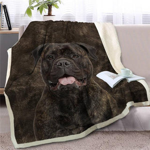 German Shepherd Love Soft Warm Fleece BlanketBlanketStaffordshire Bull TerrierSmall