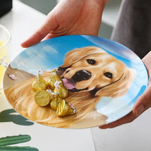 "Load image into Gallery viewer, Golden Retriever Love 8"" Bone China Decorative Dinner PlateHome Decor"
