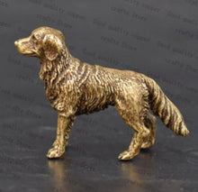 Load image into Gallery viewer, Golden Retriever Love Miniature Brass FigurineHome Decor