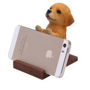 Golden Retriever Love Resin and Wood Cell Phone HolderCell Phone Accessories
