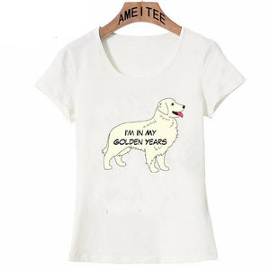 Golden Retriever Love Womens T ShirtApparelI'm In My Golden YearsS