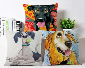 Goofy Golden Retriever Cushion CoverCushion Cover