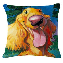 Load image into Gallery viewer, Goofy Golden Retriever Cushion CoverCushion CoverOne SizeCocker Spaniel