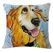 Load image into Gallery viewer, Goofy Golden Retriever Cushion CoverCushion CoverOne SizeGolden Retriever